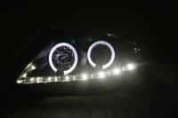 Toyota Altis Head Light 07-10 Projector DRL LED Ring Black