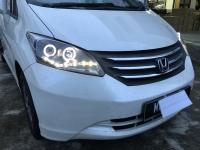 Honda Freed Head Light 10-14 Projector DRL LED Ring Black