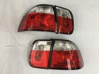 Honda Civic EK Tail Light 96-98 4Door Red/Crystal