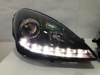 Mercedes SLK R171 Head Light 04-11 Projector DRL LED Black