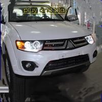 Mitsubishi Pajero Sport Head Light 09-14/Triton 13-16 Head Light Projector LED Ring Black