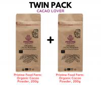 [TWIN PACK] Pristine Food Farm: Organic Cacao Powder, 200g x 2