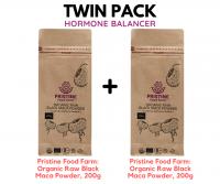 [TWIN PACK] Pristine Food Farm: Organic Raw Black Maca Powder, 200g x 2