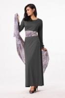 Fashion Leopard Design Jubah Dress (Including Shawl)
