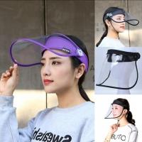 Safety Protective Face Shield Flip Visor Anti-virus Droplets Hat Anti-dust Anti-fog