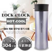 (LOCK&LOCK) Hot&Cool series flash diamond stainless steel heat preservation mug / 400ML (Blue Diamond)