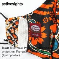 Yans Creation Batik Hitam Motif Warna Warni Flora Washable