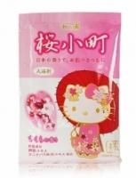 **日本進口** 和的湯Kitty保濕入浴劑-櫻花香50g