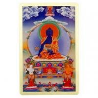 [TAITRA] Pharmacist Buddha (Pharmacist Tathagata)- Copper Foil Carry Size Thangka / Divine Card (PB-C053)