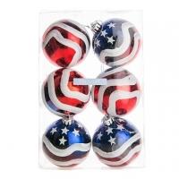 Christmas Ball Ornaments - Captain America 8cm (6pcs set)