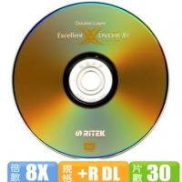 [TAITRA] Ritek 8X DVD + RDL 8.5GB 30 Pieces + Mitsubishi Double-Ended Pen 1 Piece