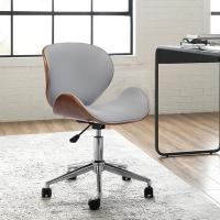 (E-home)E-home Sedona Sedona Adjustable Curved Wood Computer Chair - Grey