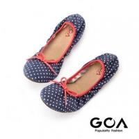 (GOA)GOA dot folding doll shoes - blue and white spot