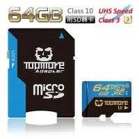 Dharma TOPMORE UHS-I (U3) 64GB microSDXC Class 10 memory card (with SD card)