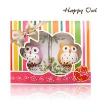 [TAITRA] HAPPYOWL Lip Balm Gift Box 2 Box Set Lemon/Orange/Blueberry/Grape/Cherry (Random Assortment)