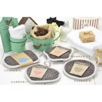 S.Cafe green coffee yarn - bath sponge trim (long)