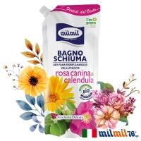 (MILMIL)[Italian MILMIL] Botanical Rose & Calendula Brightening Body Wash (Supplement Pack) 750ml