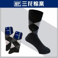 [TAITRA] SunFlower - Argyle Leisure Socks - Black