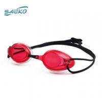 [TAITRA] 【SAEKO】 Ultra-Light Water-Resistant Racing Swim Goggles (Red Lens Black Strap) S62_RD-BK