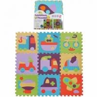[TAITRA] [BabyTiger] Made in Taiwan!Premium Playing Crawl Mat - Magic Square Series (Joy Traffic)