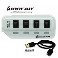 IOGEAR saving switch port USB3.0 4 Hub HUB - White