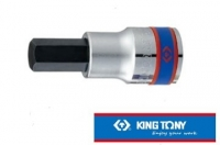 "[TAITRA] KING TONY - Professional Tools - 1/2"""" DR. Hex Screwdriver Socket - KT402514"
