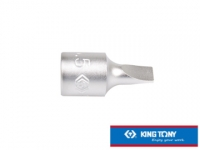 """KING TONY professional tools 1/4 """"DR. Slotted screwdriver head sleeve 8mm KT201208X"""