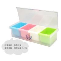 [TAITRA] Colorful Angel Storage Box Multi Lattices Storage Box Storage Box with Cover Seasoning Sauce Box