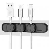 [TAITRA] Baseus Pea Pod Magnet Cable Winder Set - Black