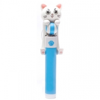 [TAITRA] Cat Aluminum Alloy Wired Selfie Stick (Blue)