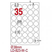 [TAITRA] LONGDER Tri-Use Printing Computer Label LD-823-W-C/35 Grids