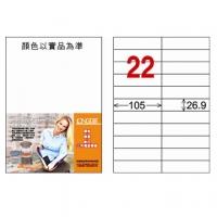 [TAITRA] LONGDER Tri-Use Printing Computer Label LD-842-R-C/22 Grids