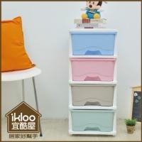 [TAITRA] 【ikloo】4 Drawer Storage Cabinet/Organizer - Macaron Colors