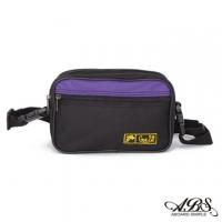 [TAITRA] WAIPU MIT Lightweight Water Repellent Dual-Use Waist Bag Crossbody Bag(Black /Purple) 703