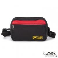 [TAITRA] WAIPU MIT Lightweight Water Repellent Dual-Use Waist Bag Crossbody Bag(Black /Red) 704