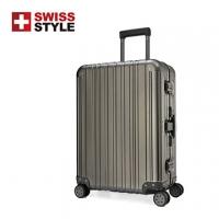 [TAITRA] [SWISS STYLE] Ultimate Luxury, Aluminum-Magnesium Luggage 26-inch (Iron Gray)