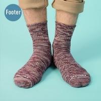 [TAITRA] [At the end] Socks deodorization, cushion socks, mixed colors trend - ZH203L-dark men