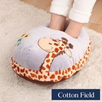 [TAITRA] Cotton Field (Giraffe) Ultra Soft Cloth Embroidery Foot Warmer Pillow
