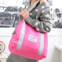 (Pocket Kr)Korean 3WAY large shoulder bag x ramp. Pastel peach