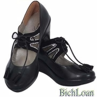 (BICH LOAN)BICH LOAN Taiwan Excellence beating heart of the diamond paste black shoes BL20120886