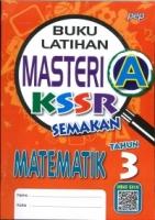 (PEP PUBLICATIONS SDN BHD)BUKU LATIHAN MASTERI A MATEMATIK TAHUN 3 KSSR SEMAKAN 2020