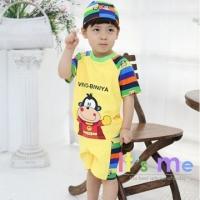 [It's Me] boy yellow monkey Superman style two-piece swimsuit