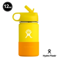 (Hydro Flask)Hydro Flask Children's Wide Mist 12oz/355ml Stainless Steel Thermos Lemon Yellow