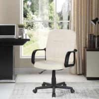 (E-home)E-home Raines Rennes Adjustable Armchair Computer Chair - White