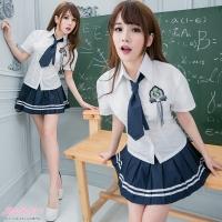 (愛衣朵拉)Student Uniform Cosplay Uniform White Shirt 100% Skirt - Love Dora C018