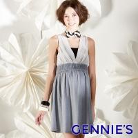 (gennies)Gennies sexy beauty V-neck spring and summer sleeveless dress (G1111)