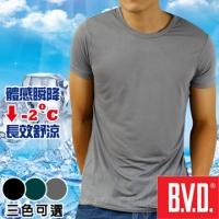 (bvd)BVD cool round neck short sleeve