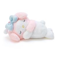 Sanrio 造型絨毛玩偶附熱敷袋S 暖暖包玩偶 拍照玩偶 美樂蒂 趴姿 粉白