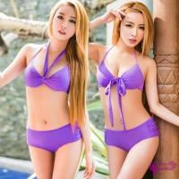 [TAITRA] 【Sexy Cynthia】Lovely Purple Series 2-Piece Padded Bikini Swimsuit