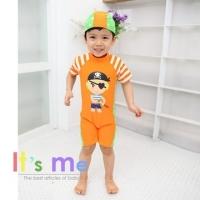 [It's Me] boy cute pirate style orange jumpsuit children swimsuit